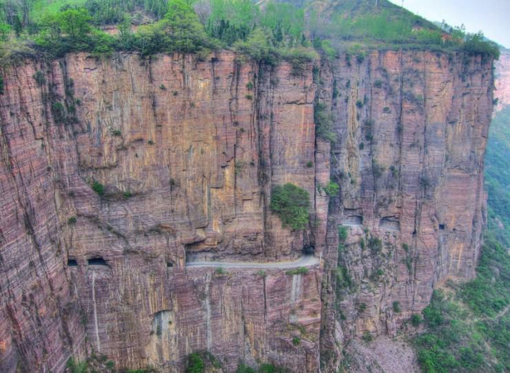 سواری در جاده تونل گوولین، چین