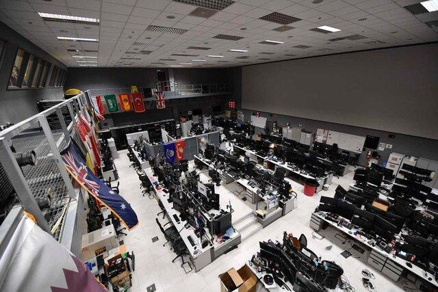 مانور بی سابقه مرکز فرماندهی و مراقبت هوایی آمریکا در پایگاه هوایی العدید قطر