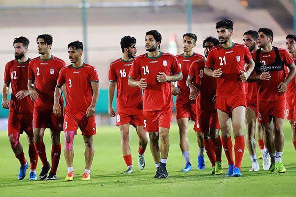 برگزاری جلسه فنی تیم فوتبال امید ایران پیش از دیدار با اندونزی