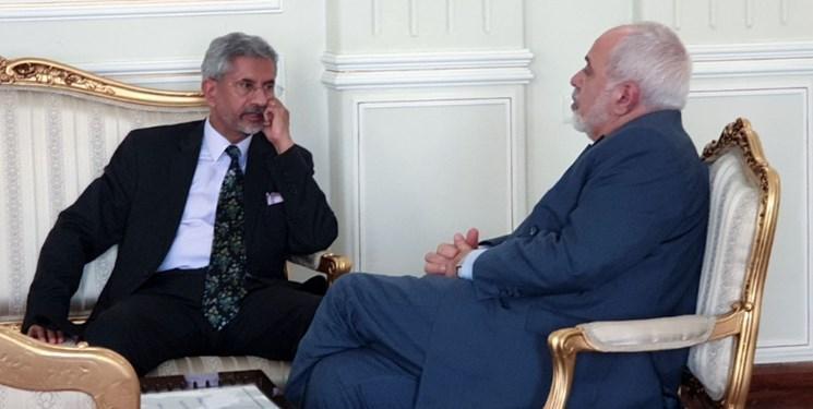 گفتگوهای خصوصی وزرای خارجه ایران و هند در تهران