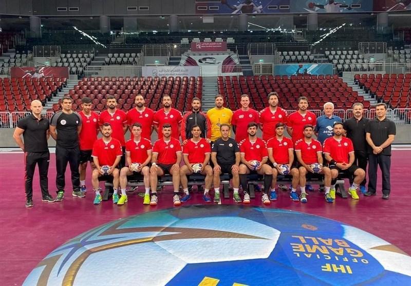 هندبال قهرمانی آسیا، شکست ایران برابر قطر