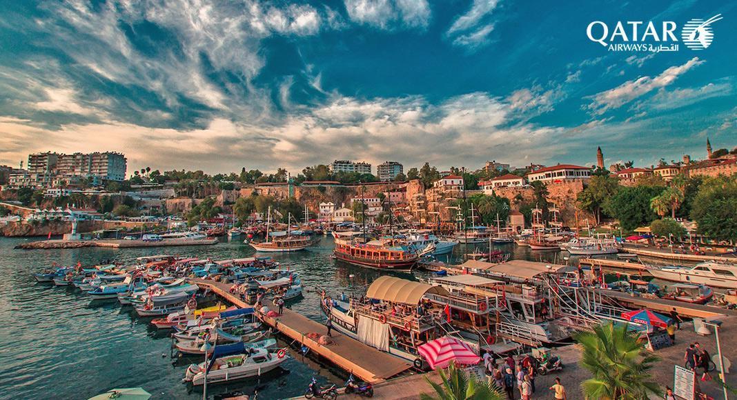 پروازهای غیر مستقیم تهران آنتالیا با قطر ایروز