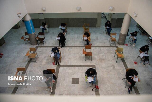 تنها داوطلب البرزی مبتلا به کرونا در بیمارستان کنکور می دهد