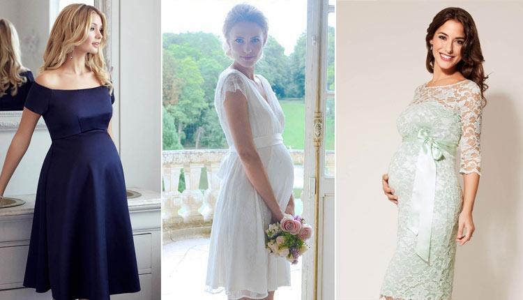 30 مدل لباس مجلسی بارداری کوتاه و بلند