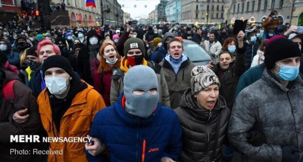 تجمع معترضین به بازداشت ناوالنی در چند شهر روسیه