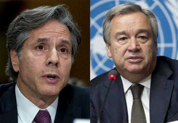 گفت وگوی وزیر خارجه آمریکا و دبیرکل سازمان ملل درباره صلح افغانستان