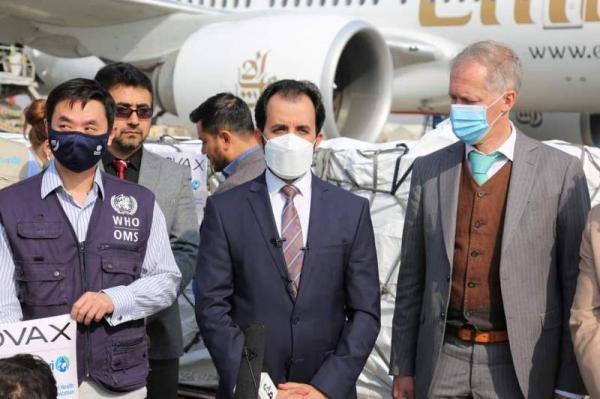 خبرنگاران محموله واکسن کرونا اهدایی کواکس به کابل رسید