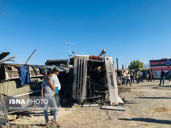 اسامی مصدومان و فوتی های حادثه تصادف اتوبوس در دهشیر یزد